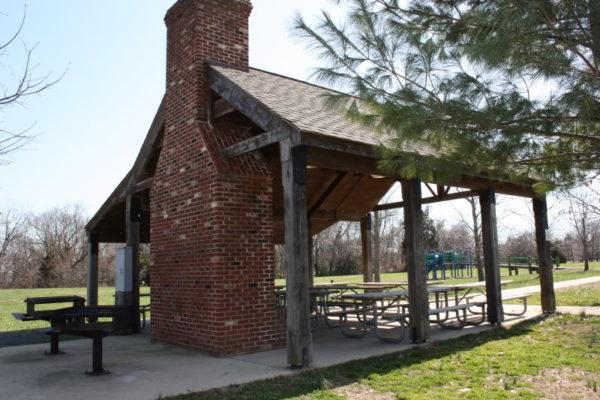 Quarter Creek Pavilion fireplace view