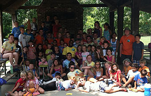 Group shot of last day of Camp Greenwell 2012