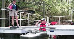 Preparing to depart form the kayak launch